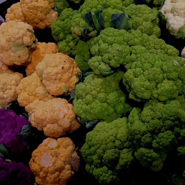 Colorful Cauliflower! Can't wait to make purées to pair with grilled meats & roasted fall squash!