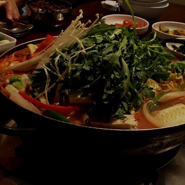 The last supper 🙏🏼 해물전골