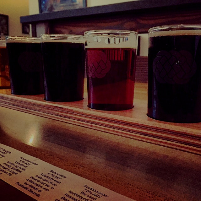 Beer tasting in Inglewood, Ca. Loving the Blood Junkie collab with Prosthetic Records (imperial r...