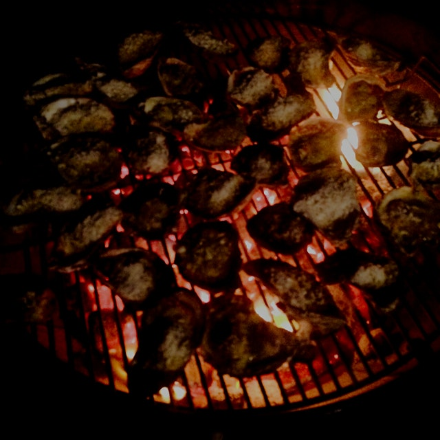 New Years grilled oysters