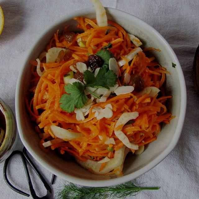 Carrot and Fennel Salad: Keep that healthy resolution deliciously-on the blog now!