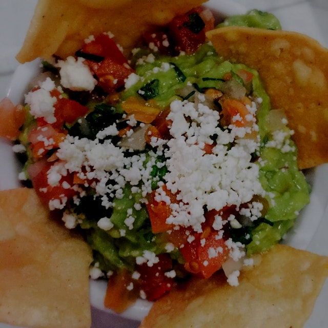 Guacamole with cotija cheese