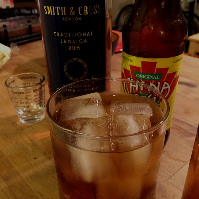 Taking rum X coke to the next level. Smith & Cross is Jamaican rum at hearty 57% abv, as required...