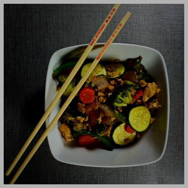 Awesome #vegan stir fry for about $1.50 per serving.