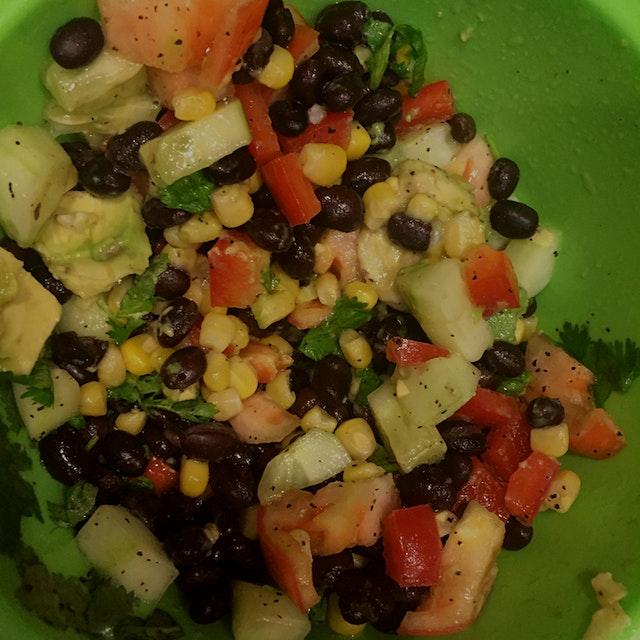 Best hydrating salad! Perfect after a good weekend binge! #GetReal #EatVeggie #CleanEatingWeek1