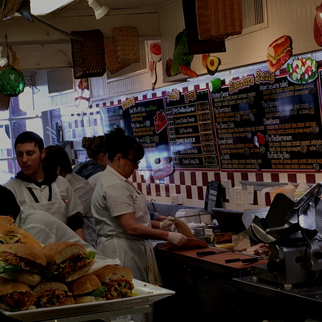 Lunch. Sometimes the location is as important as the food. This is my favorite deli. Millburn Del...