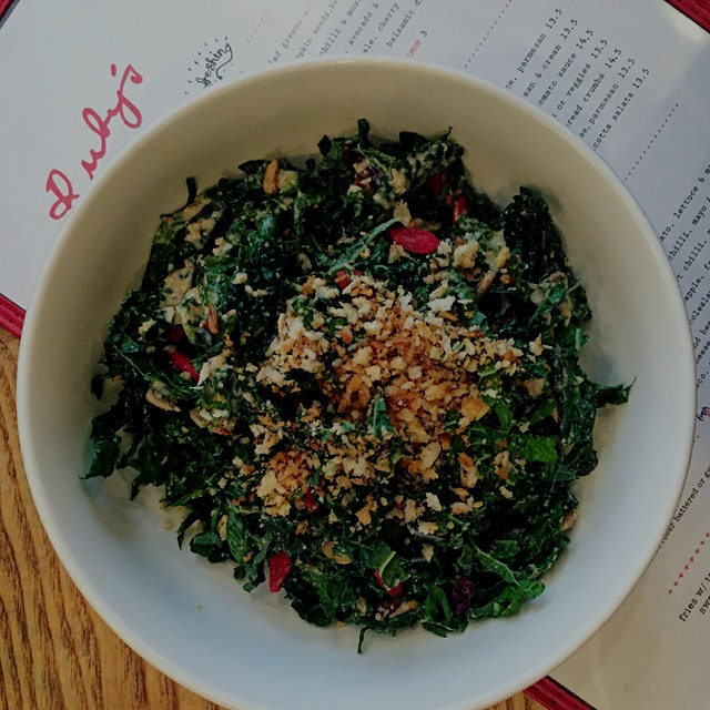 Kale & tahini, if the two of them exist on a menu together, I'm ordering it!!!!! #GetReal
