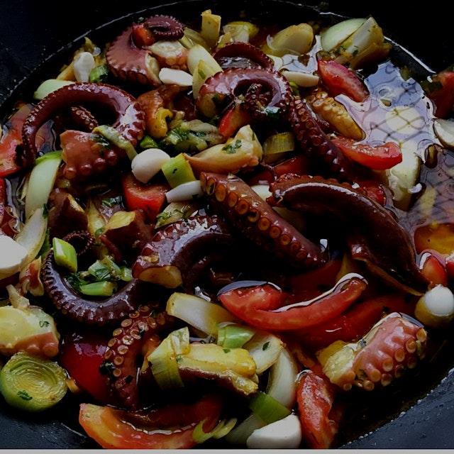 Octopus Confit
