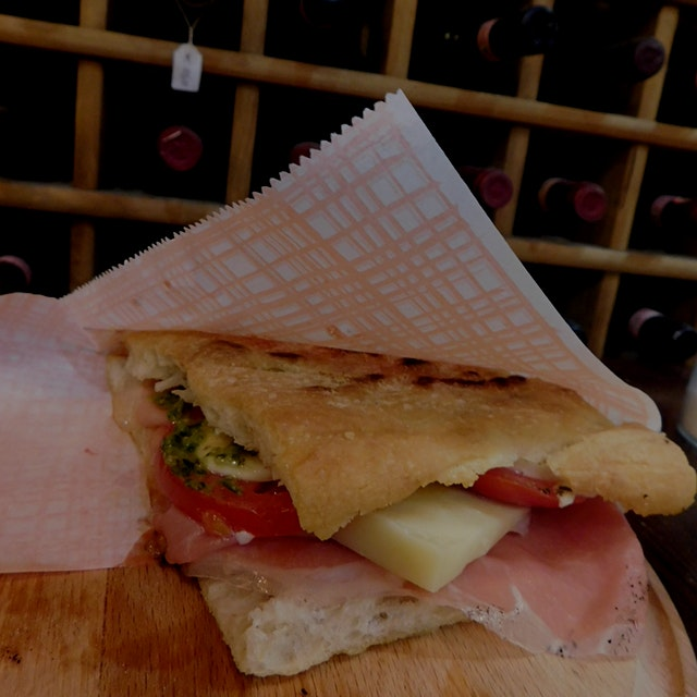 The most delicious panini- just as good as I remembered it :) The springtime panini from Pino's s...