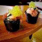 Hamachi Tartare in Squid Ink Cones