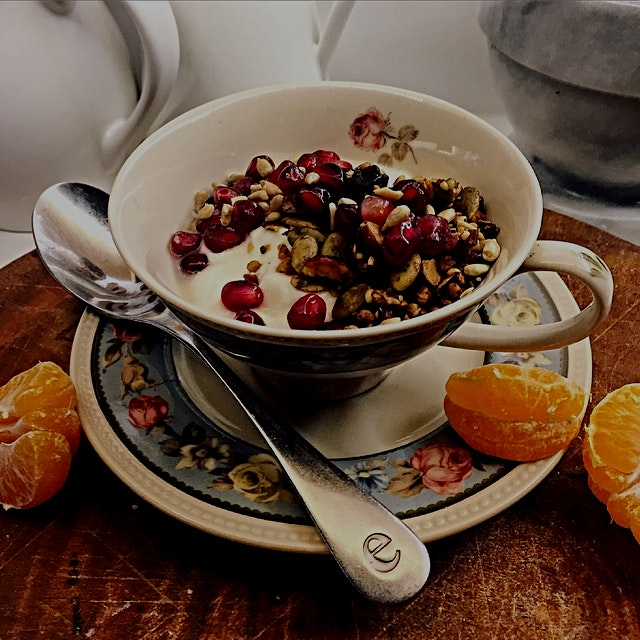 On a day that wouldn't leave time for cooking, yogurt and granola was a no-brainer for breakfast....