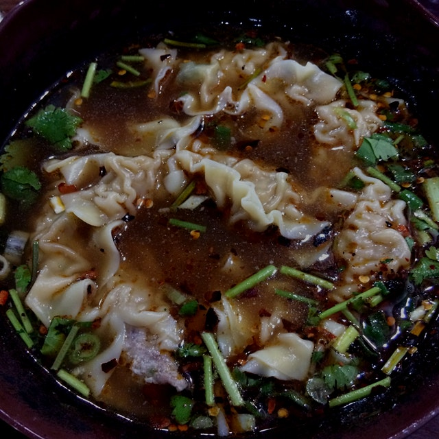 Warm up against frigid temperatures with a hot and sour bowl of Yun Nan pork dumplings.