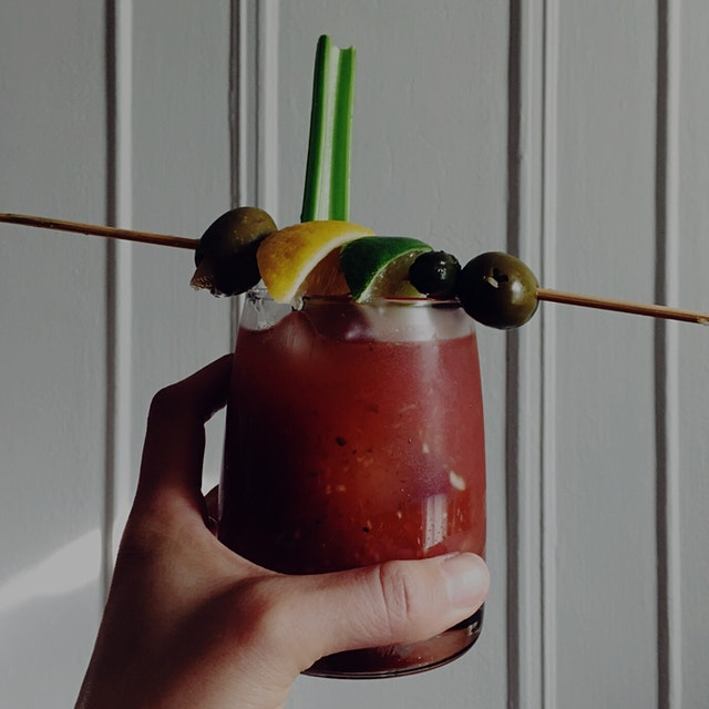 McClure's Bloody Mix + vodka + every pickled thing! #drinkstand #mixology