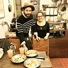 This story makes me so happy- Randy pitched his idea for a pupusa restaurant at spotlight. He met the famed jimmy Carbone, who gave him a pop up, which helped him open a restaurant, and he is crushing. We spent the evening with humans his gal- they are now staples on Essex st! #BeALocal