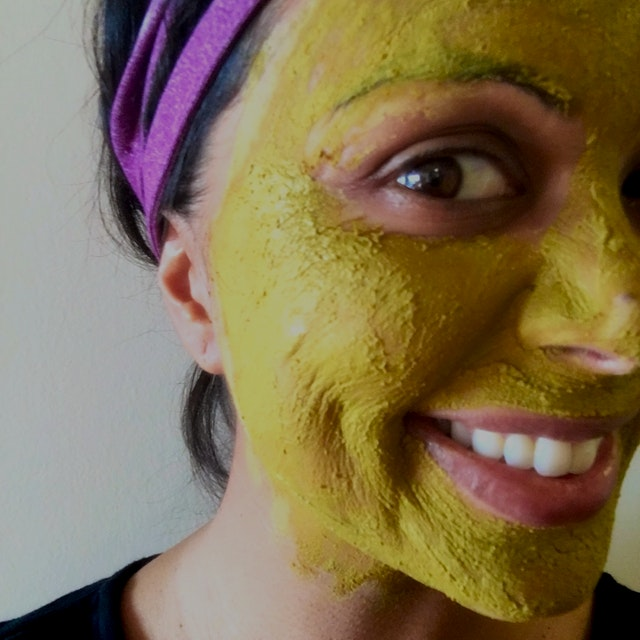 It's a fun weekly ritual that keeps my skin soft, clean and helps my rosacea.   Turmeric has anti...