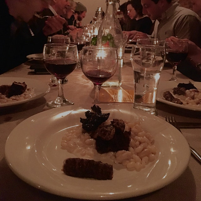 Chef Renee Baumann and Local Roots NYC had a supper club and It was a 4 course dinner of deliciou...