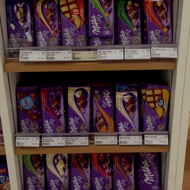 Schokoladen Laden. #milka
