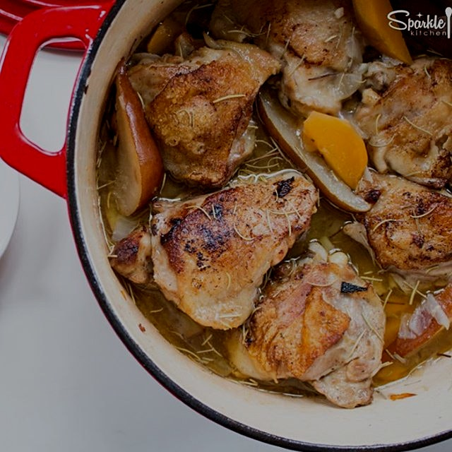 """""""""""New recipe just for you!  One Pot Chicken with Pears and Turnips  for the February edition of L..."""