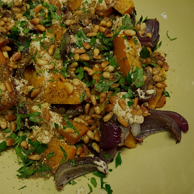One of mine is definitely Yotam Ottolenghi's Jerusalem. This roasted butternut squash and red oni...