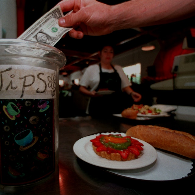 "What do you think- is tipping an outdated model?  ""A court ruling is pushing California restauran..."