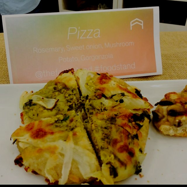 Farmers market pizzas- just a peek at the food spread from tonight's sold out startup weekend pan...