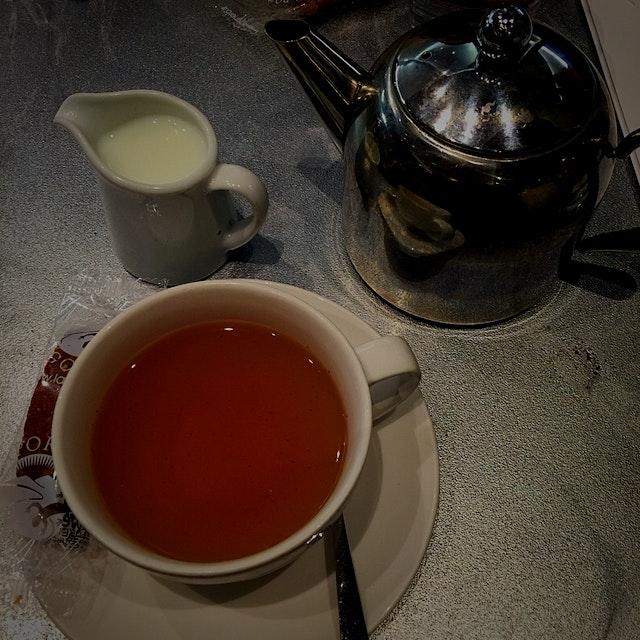 Mint tea inside the iconic Harrod's