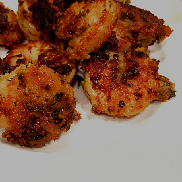 Last night I tried this awesome David Tanis recipe for Spicy Fried Shrimp that calls for a coatin...