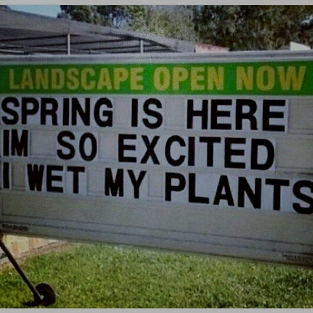 Good reminder to start planting if you haven't already!