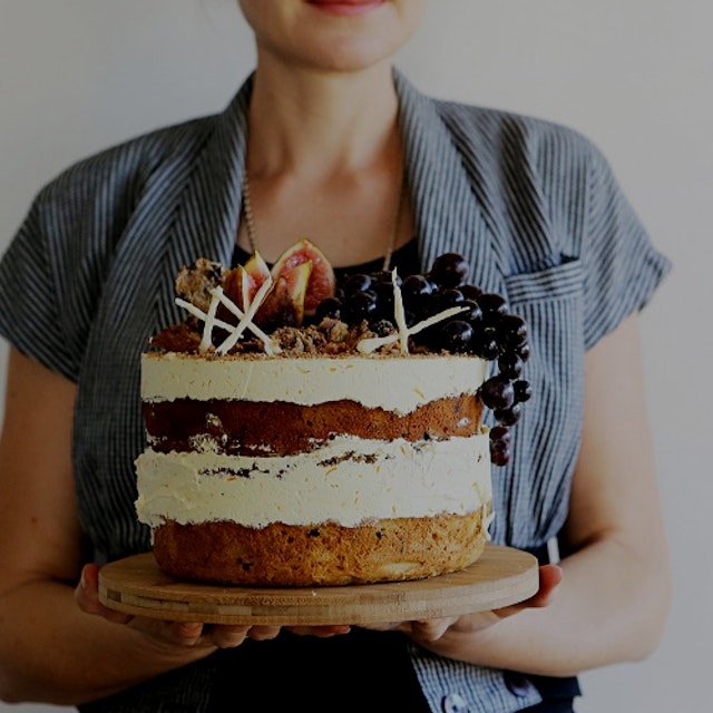 "Beautiful cake! Definitely want to try this. Found the site after @cheesegrotto post.      ""While..."