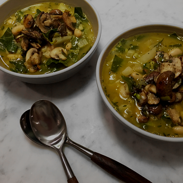 My recipe for Fennel White Bean Soup with Mushrooms is on my blog. #recipe