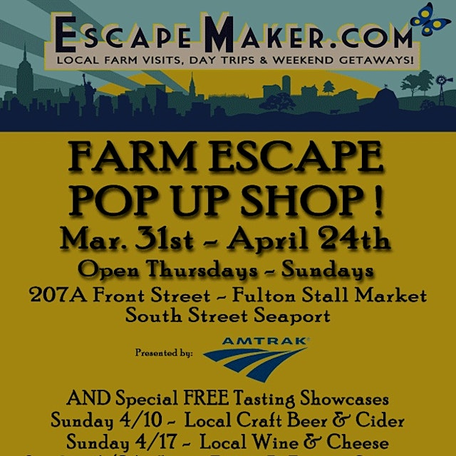 Now through April 24th! Thursdays and Fridays 12-6pm and Saturdays 11am-5pm. Featuring food and b...