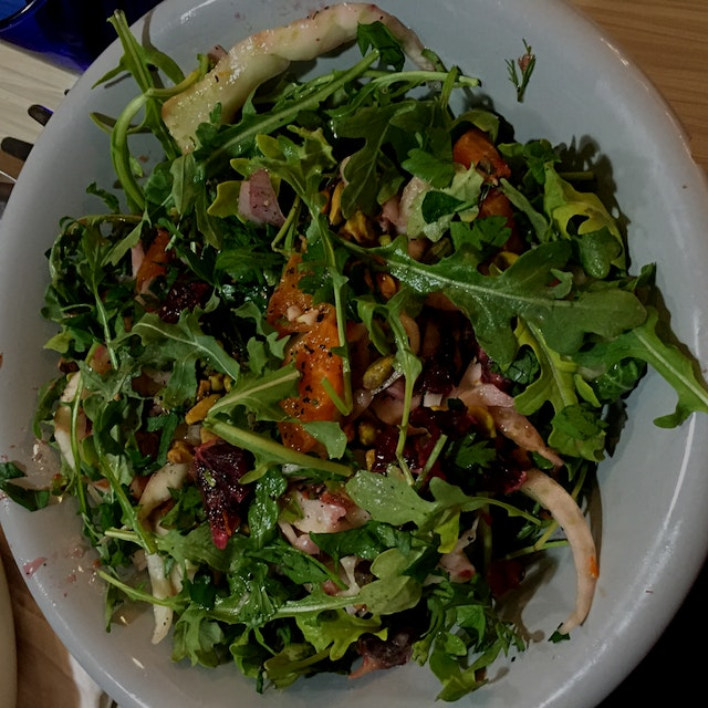 My roommate threw together the most delicious and fresh salad! Full of citrus zing and ready for ...