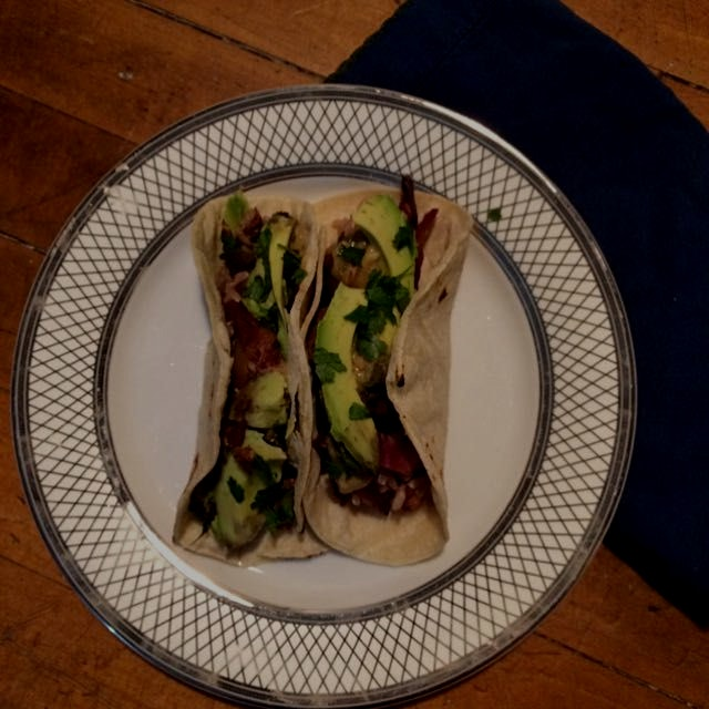 Experimented with stir fry tacos last night. I had left overs so I put it in a tortilla and toppe...