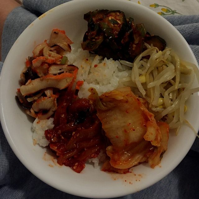 Decided to treat myself today by picking up my favorite banchan (Korean side dishes) at HMart on ...