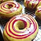 We gave the Doughnut Project beets from our CSA and they made these beautiful beet ricotta doughnuts! SWOON
