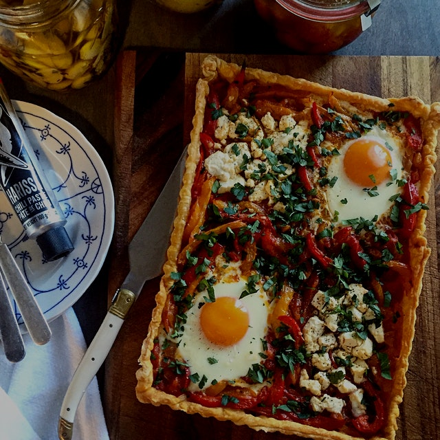 """Shakshuka with a twist. Sometimes the best meals come about by pure happenstance.  I know you, l..."