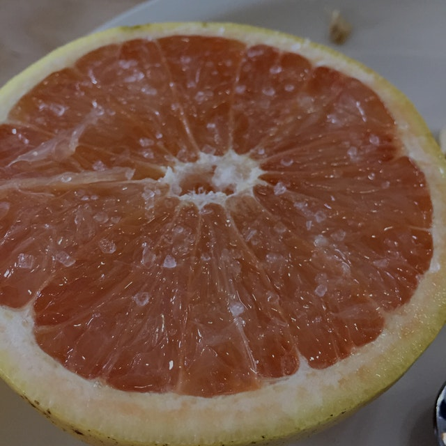 My old cross country coach taught me this trick -- throw a little sea salt on your citrus and it ...