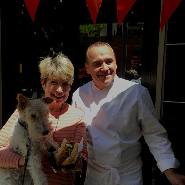 Meet Tilly, our Tour de Forks truffle dog. She sniffed out Chef Jean-Georges Vongerichten serving...