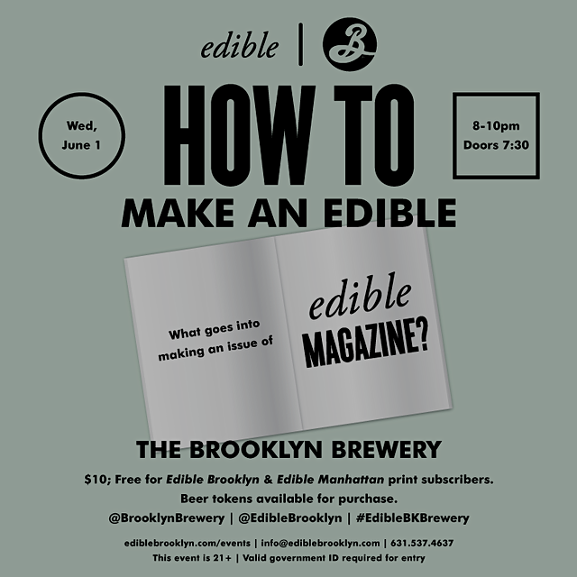 What goes into making each issue of Edible magazine? How are the stories chosen? Who is the perso...