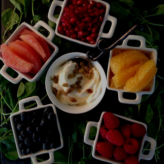 I love fresh organic fruit with Greek yogurt and Tupelo honey! Do you?