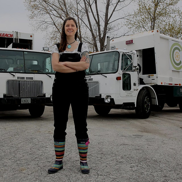 """Part-time waitress, full-time garbage entrepreneur — Melissa Tashjian has carved out a niche hel..."