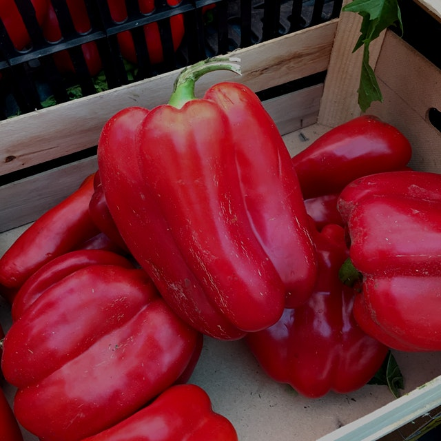 Red peppers are just green peppers that have stayed on the vine longer. They're usually sweeter t...