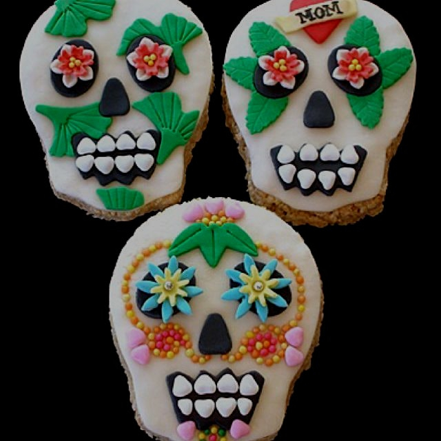 Rice Krispies Treats Halloween fun! Day of the Dead!