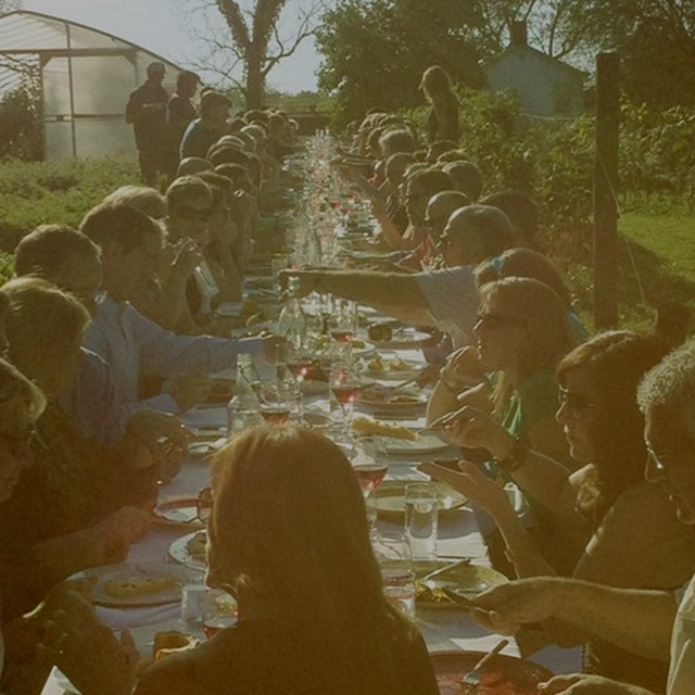 """""""An on-farm dinner like no other. Featuring some of the region's best chefs and producers on one..."""