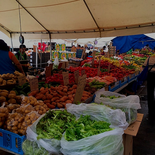 Tons of fresh produce at the hay market in Boston. Absolutely shockingly cheap! Great buys! Keep ...