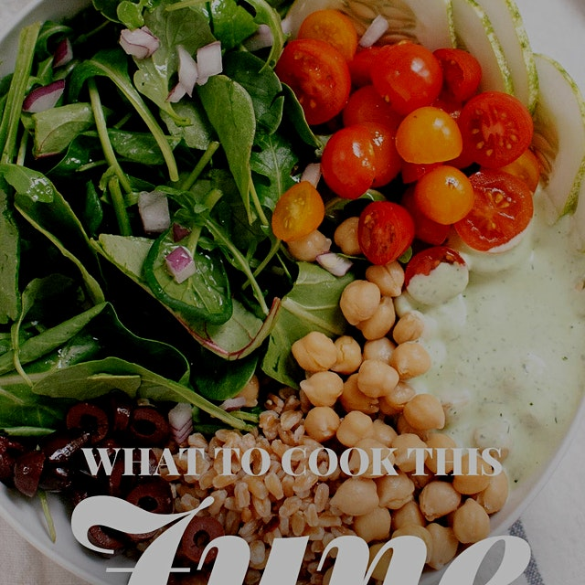 Here's the June guide. All healthy and seasonal recipes, this is one of my favorite things to loo...