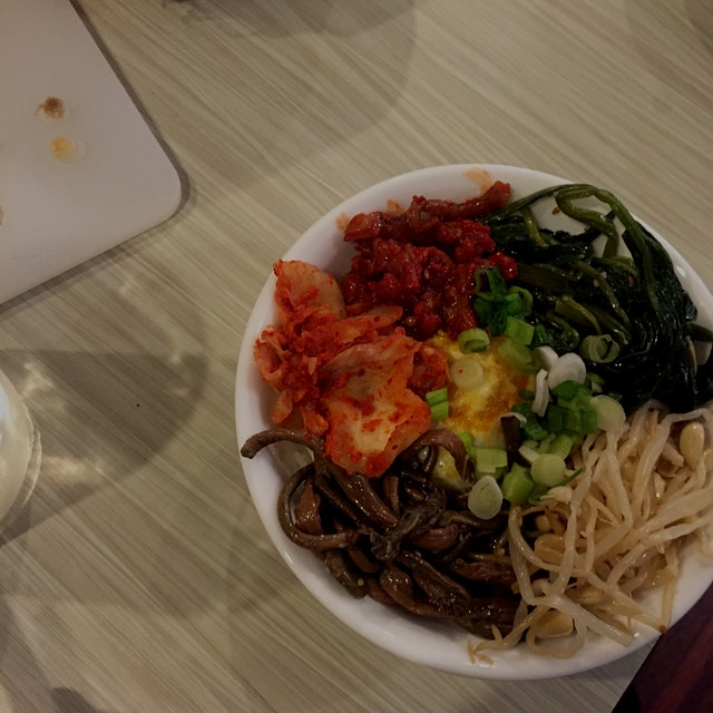 All my favorite side dishes (panchan) in one bowl!