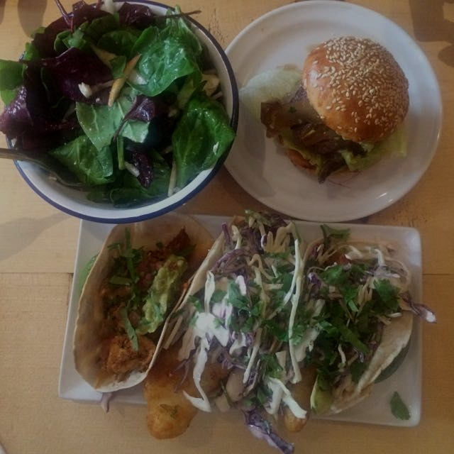 Birthday lunch in Paris at organic food truck turned resto Cantine California. When in Paris, eat...
