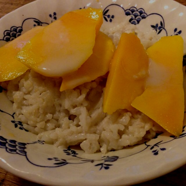 Homemade mango sticky rice