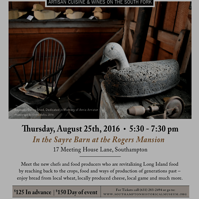 The Amagansett Food Institute and the Southampton Historical Museum will present an array of the ...